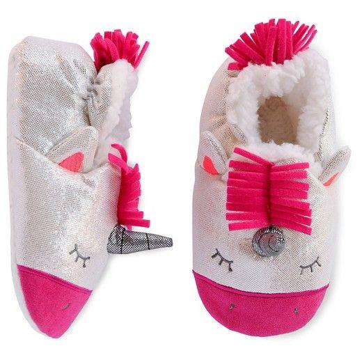 517dfb11cbe Toddler Girls  Unicorn Slipper Cat   Jack™ - White Metallic   Target ...