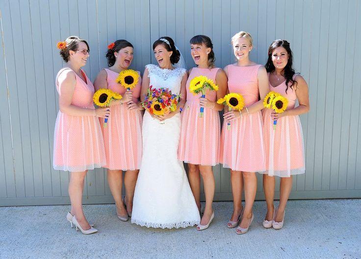 Tüll Brautjungfern Kleid Vintage Stil Polka Dot Brautjungfer Kleid 50er Jahre Stil Tüll Kleid
