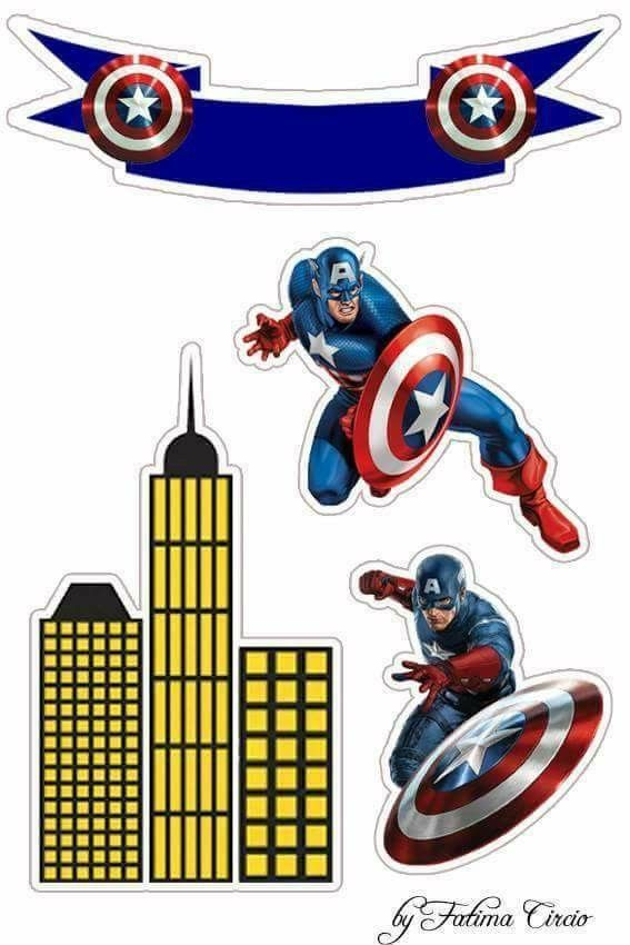 captain america free printable cake and cupcake toppers oh my fiesta for geeks captain america birthday captain america printables captain america party pinterest