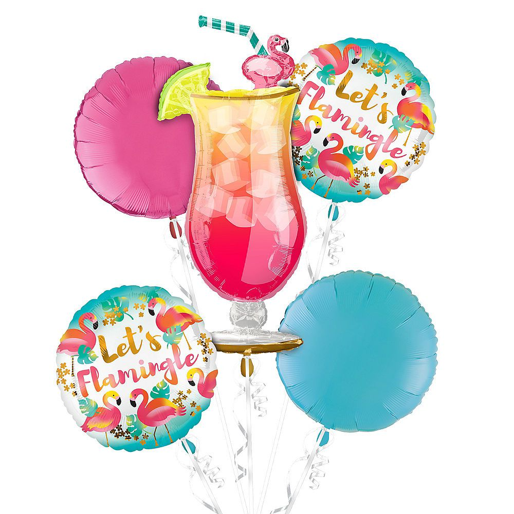 SUPERSHAPE COCKTAIL GLASS DRINK LUAU TROPICAL HELIUM FOIL BALLOON