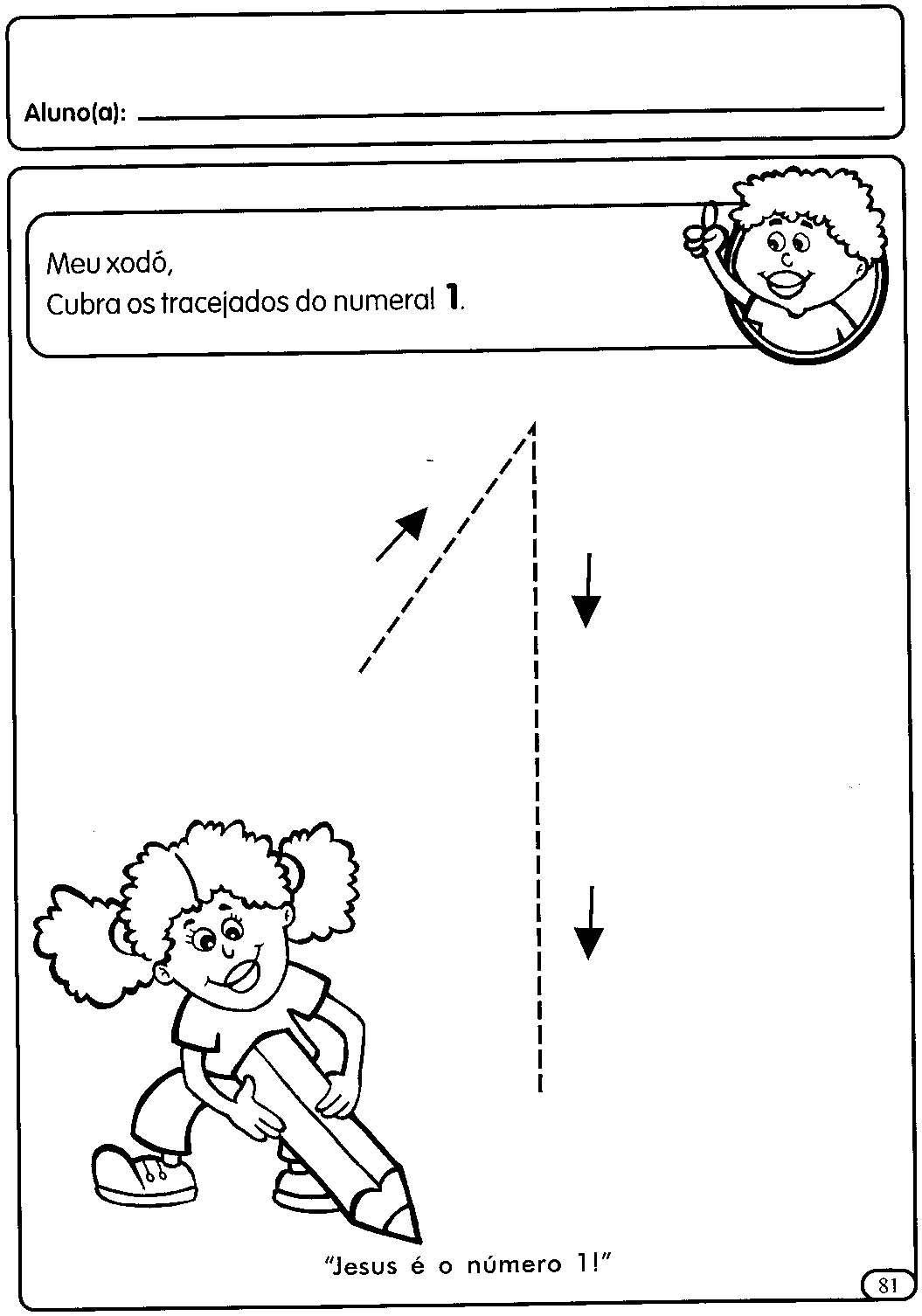 Amado Atividades com numerais de 1 a 5 para a Educação Infantil  KW27