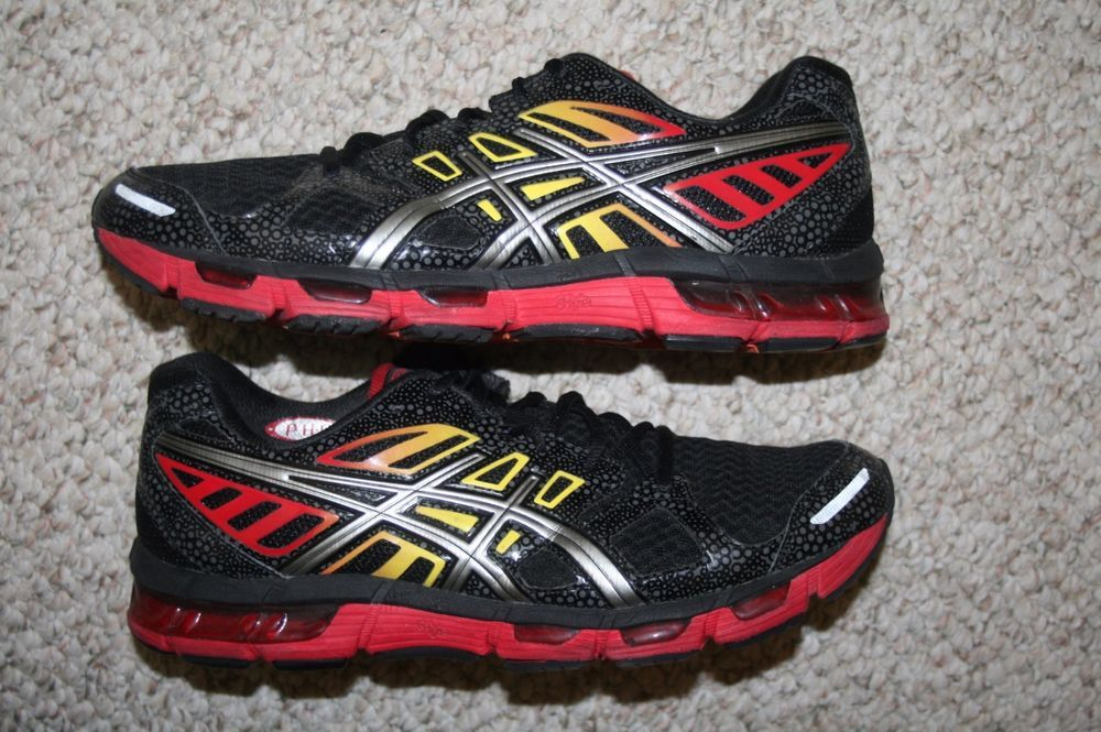44a9bd08cdfc Asics Gel Cirrus 33 2 running shoes 11 mens 45 European eleven black red  yellow