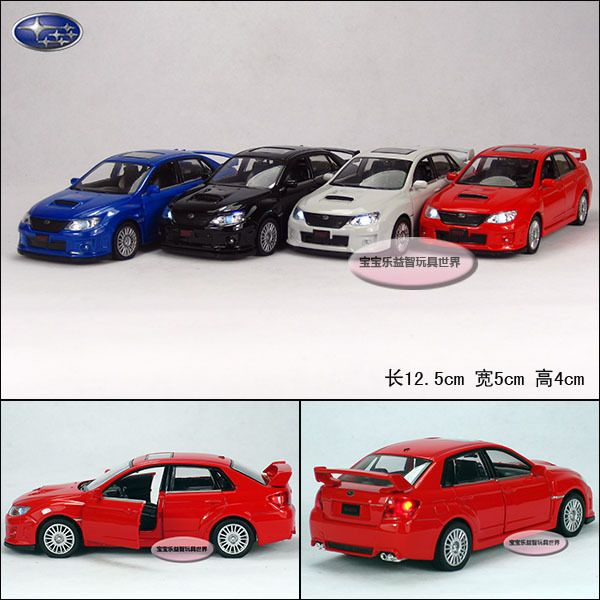 Subaru WRX STI 1:36 Alloy Diecast Model Car Toy With Sound & Light Black Toy collection B1847 US $17.99