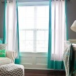 I heart the turquoise curtains + chevron