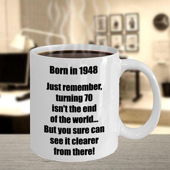70th Birthday Coffee Mug Happy Mugs Gift For Men Women