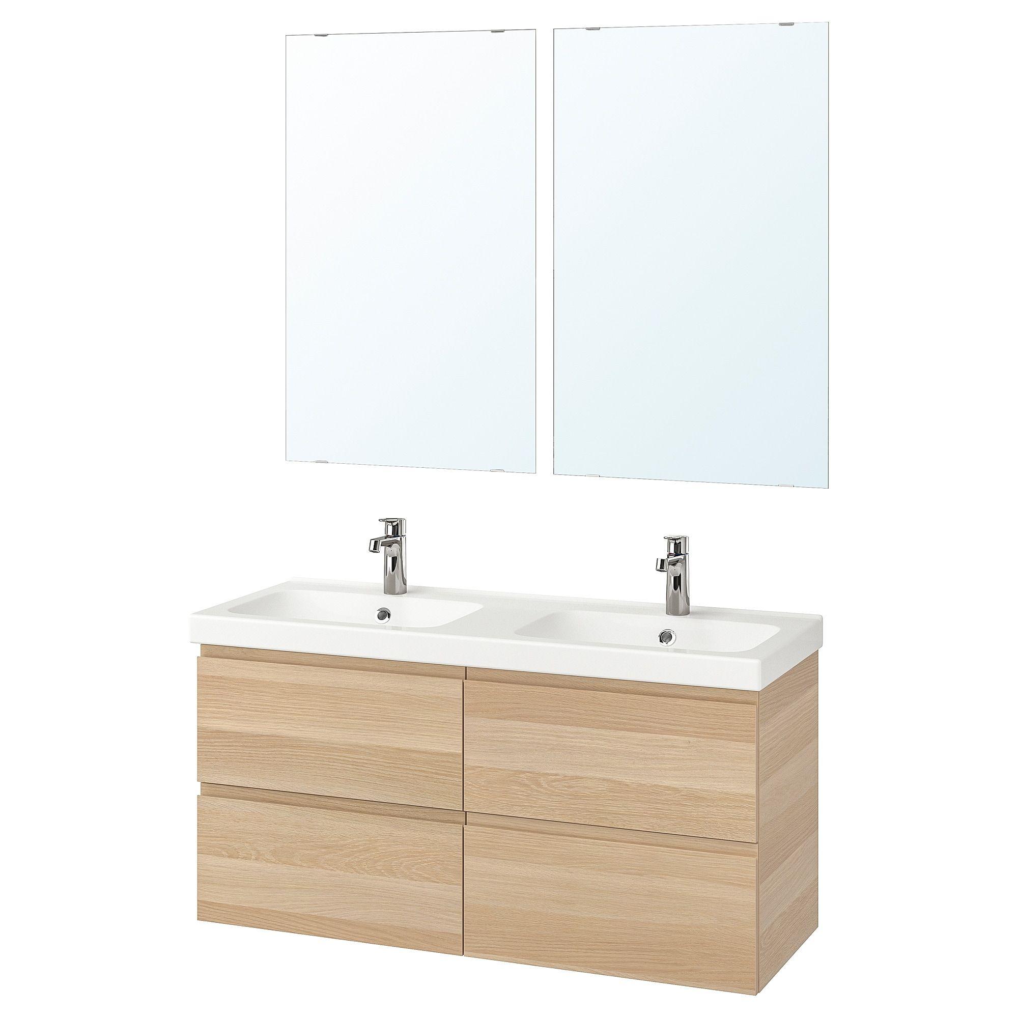Ikea Godmorgon Odensvik Badeinrichtung 6 Tlg Eicheneff Wlas