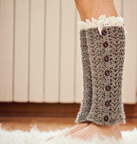 Crochet PATTERN - Luxury Leg Warmers | Botas, Gorro tejido y Calzado