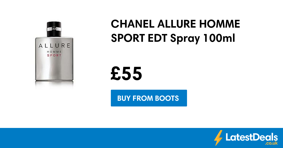 CHANEL ALLURE HOMME SPORT EDT Spray 100ml, £55 at Boots