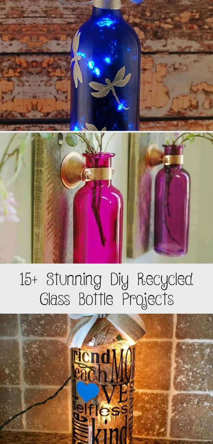 15 Stunning Diy Recycled Glass Bottle Projects Diy Recycle