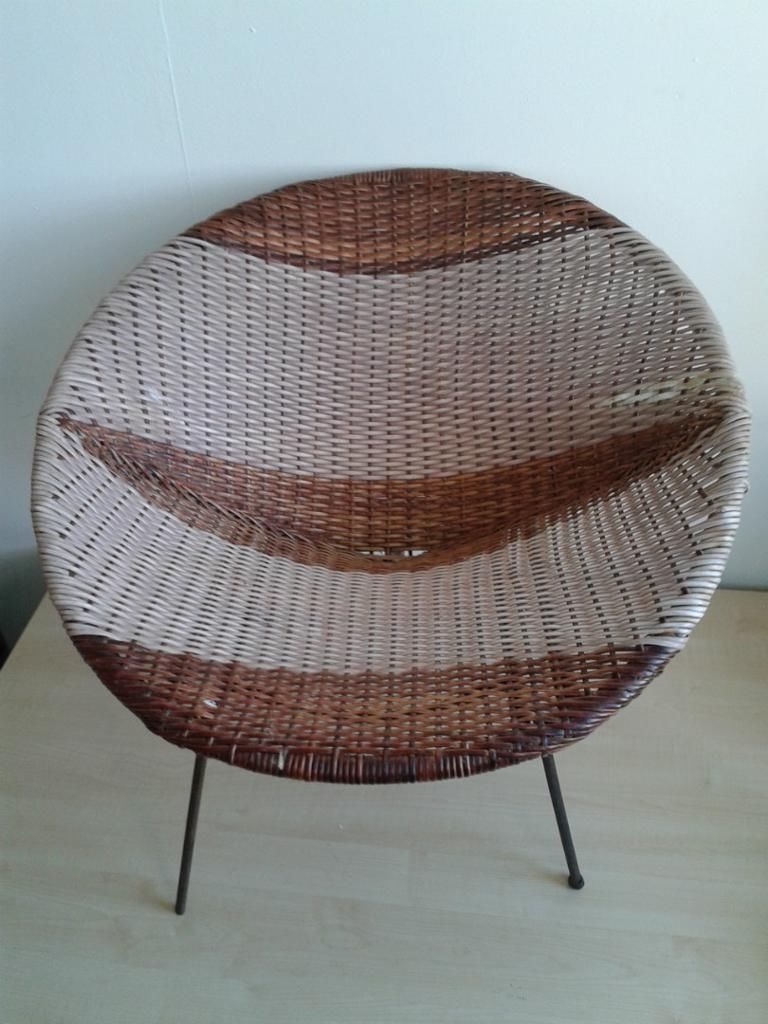 VINTAGE RETRO ATOMIC MODERNIST WICKER BUCKET TUB SAUCER CHAIR 1960u0027s On  Gumtree. This Is An