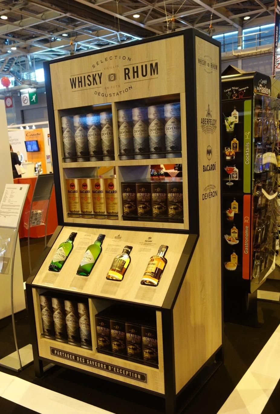 Whisky And Rum Display Bacardi Retail