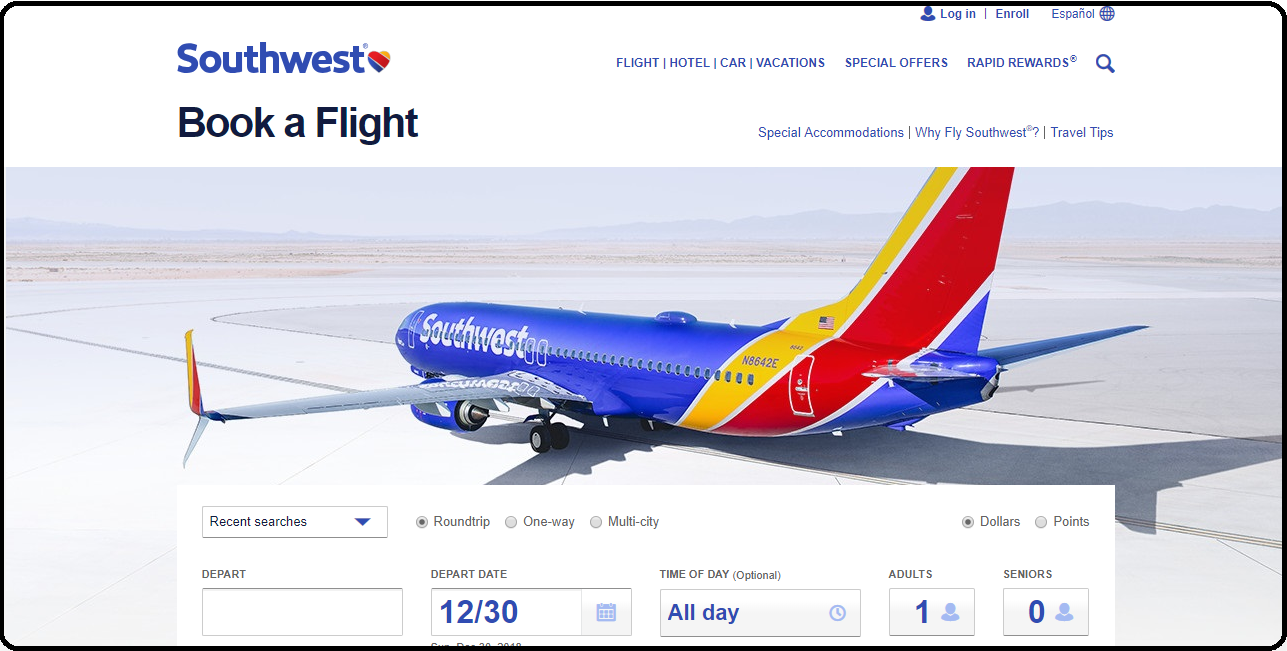 How To Book Cheap Flight Tickets With Southwest Airlines