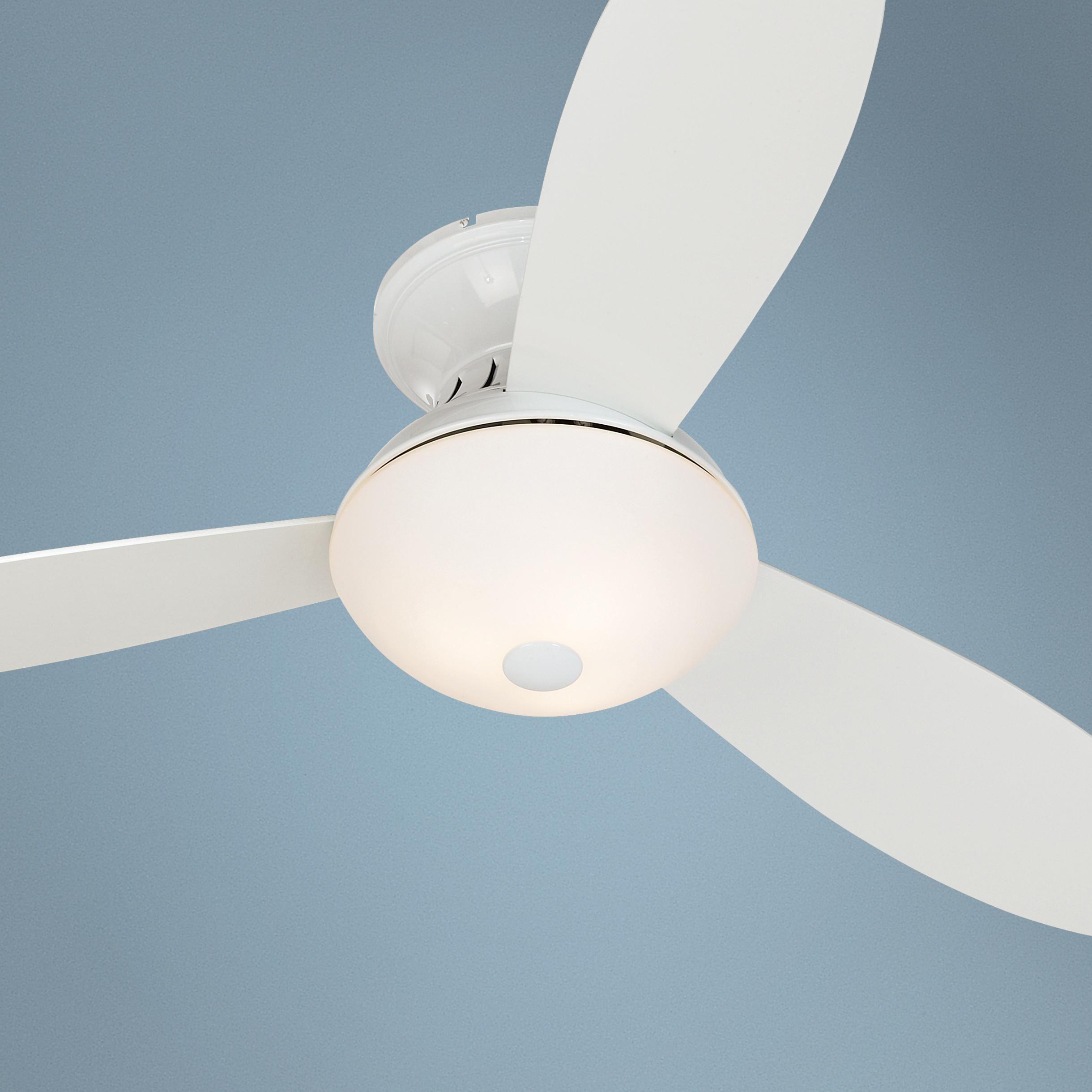"Possini Euro Design 52"" Encore White Hugger Ceiling Fan"
