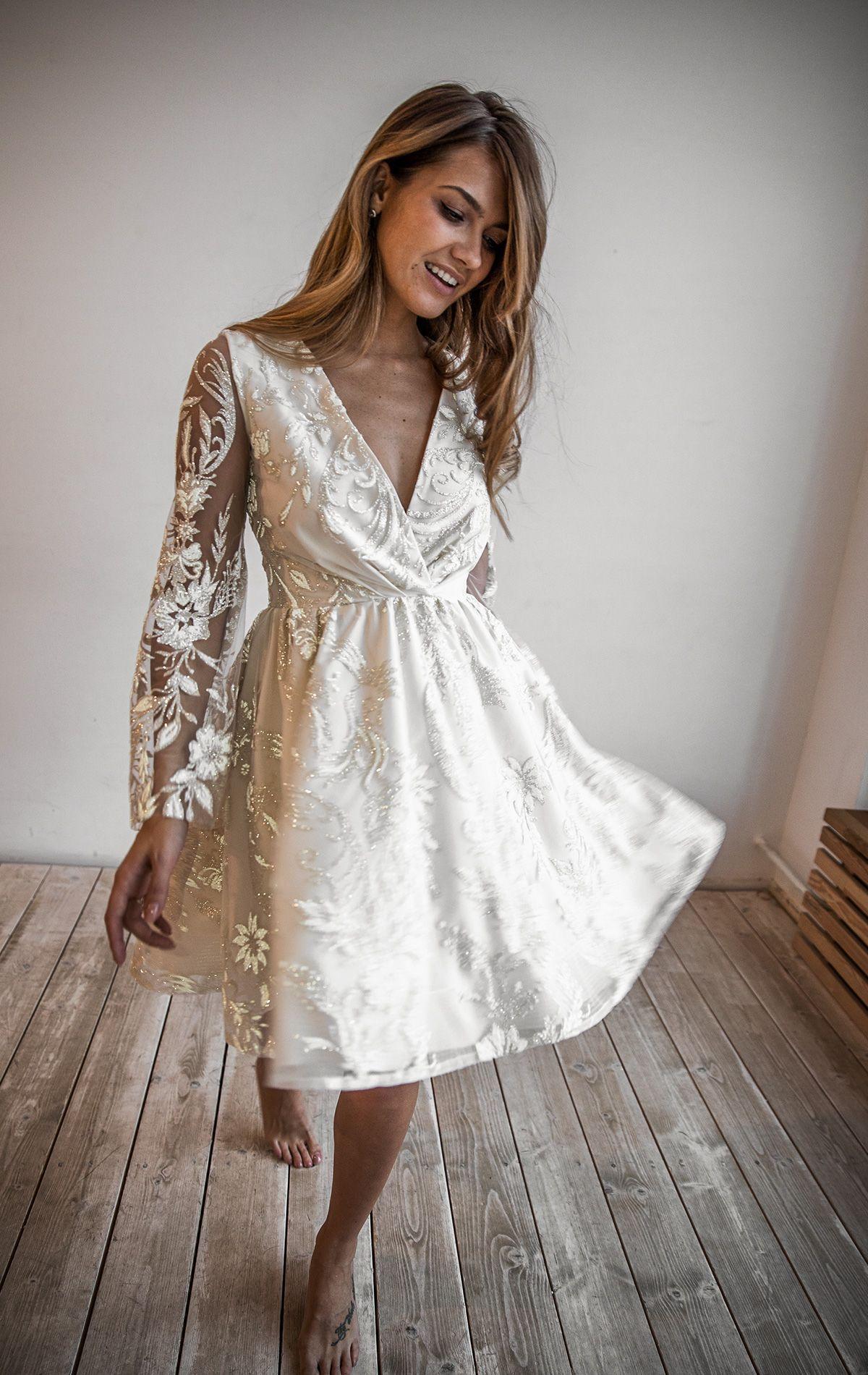 Kay By Olivia Bottega Lace Baby Doll Wedding Dress Baby Doll Etsy Doll Wedding Dress Casual Bridal Dress Short Lace Dress [ 1900 x 1200 Pixel ]