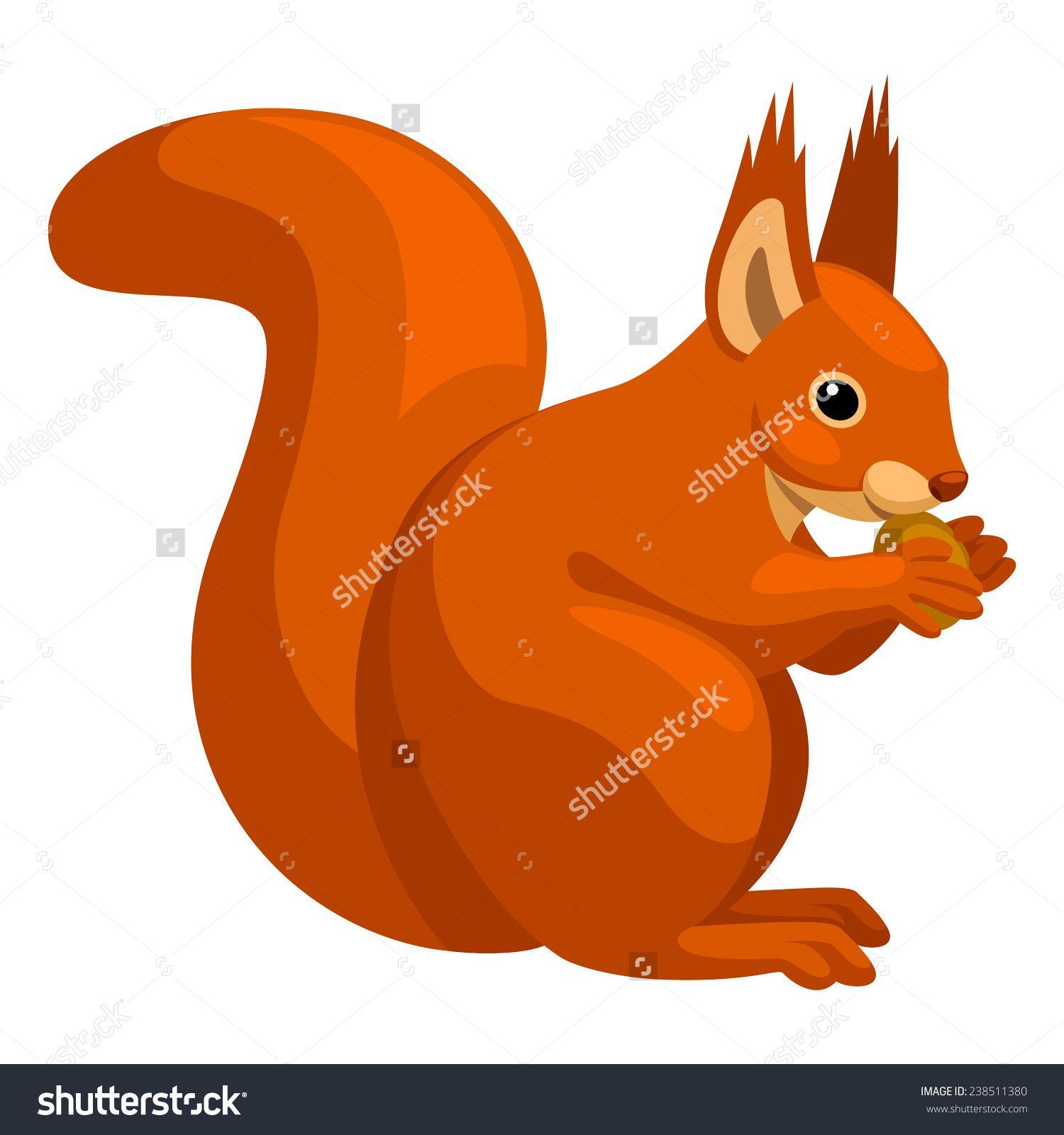 Squirrel stock vector illustration shutterstock