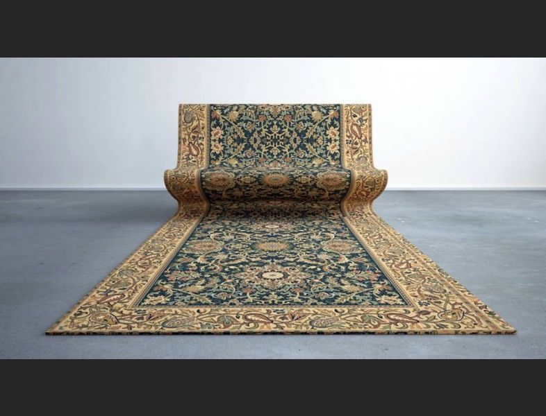 This Beautiful Persian Carpet Is Actually A Lounge Chair