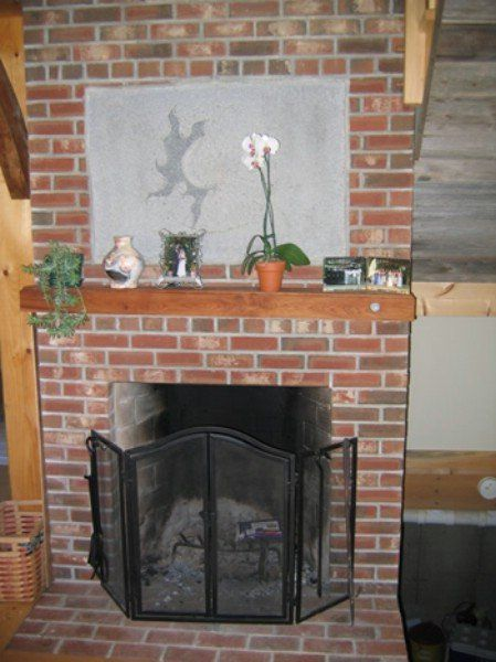 Brick fireplace and Household