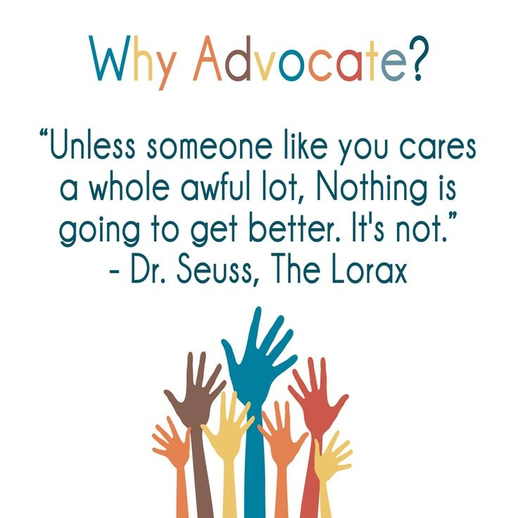 why advocate unless someone like you care a whole awful lot