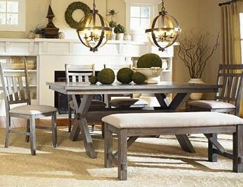 dining room picnic table   Refinish a picnic table for a dining room table. Good idea ...