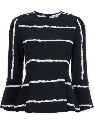 b35b878802760 Derek Lam 10 Crosby striped bell sleeve blouse