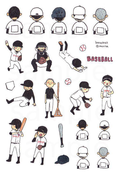 Photo of 【35】野球部フレークシール