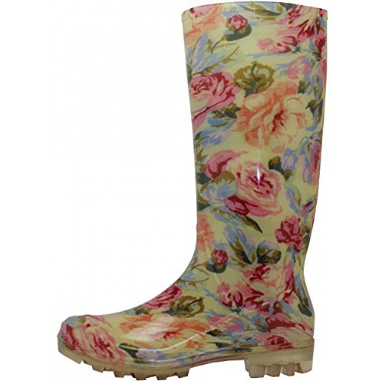 Women's Beautiful Rain Boots 13 1/2 Inches