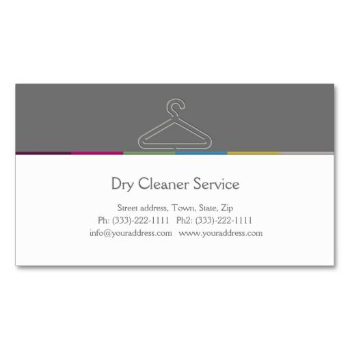 Dry Cleaner Service Business Card | Business cards, Laundry business ...