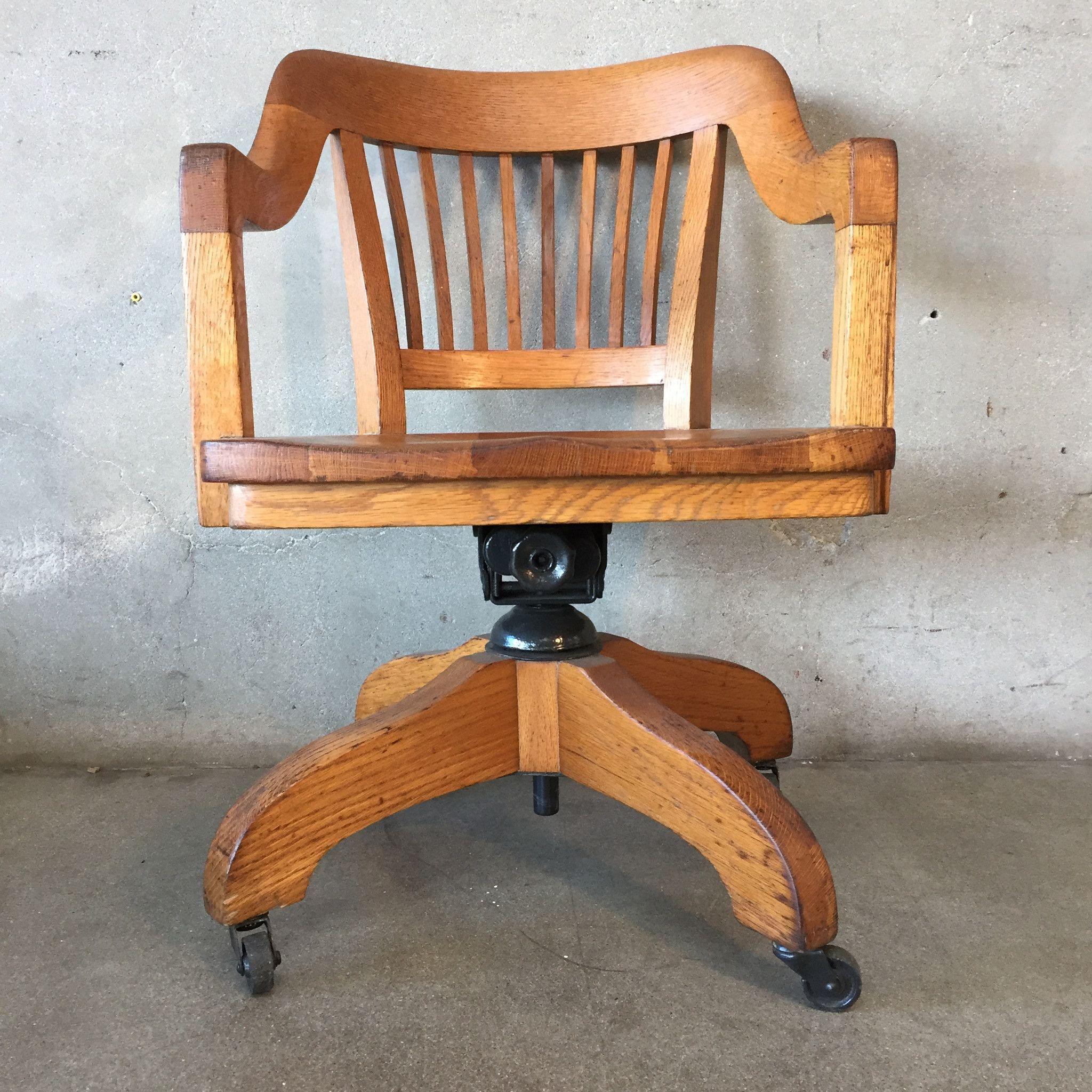 Oak 1940 S Captains Desk Chair Desk Chair Diy Simple House