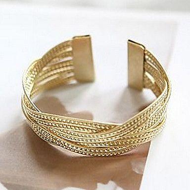 Mujeres Canlyn Moda Amplia metal Knit de la pulsera – CLP $ 600