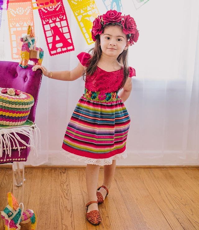 60e420de107 Fiesta birthday swag 😍 How beautiful is this Fiesta dress made by Belle  Threads. Shop for more styles at www.bellethreads.com .