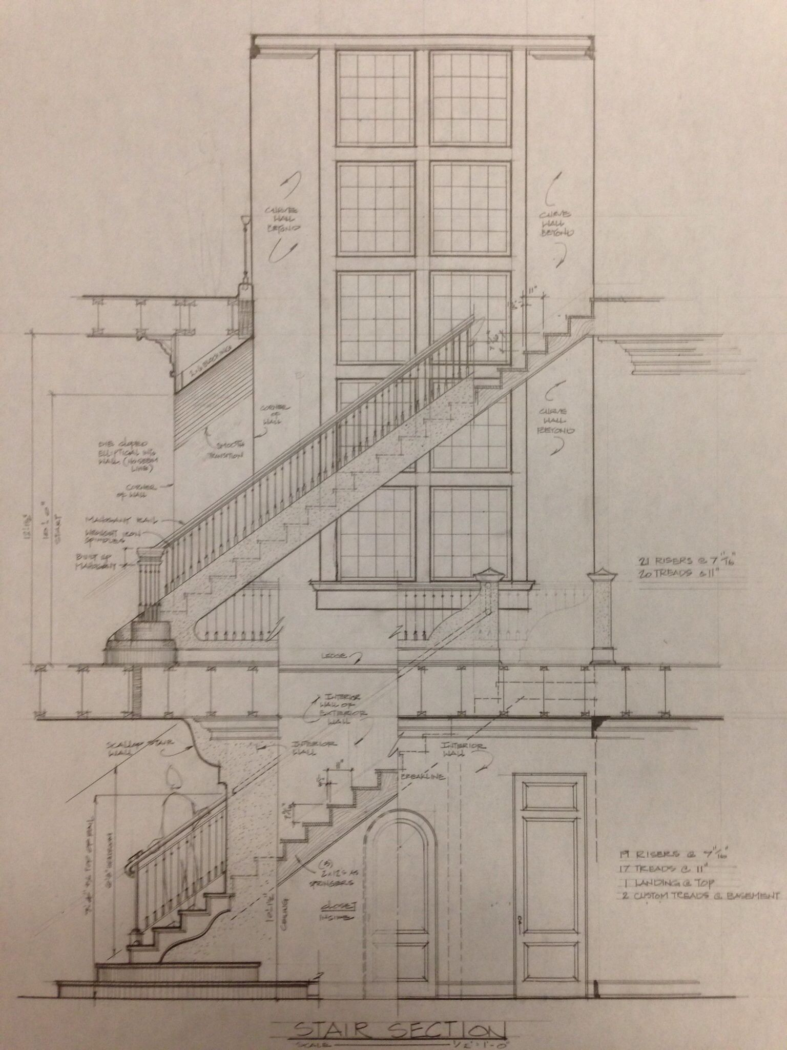 Section Drawing Of Stairs By Shawn Fisher Design