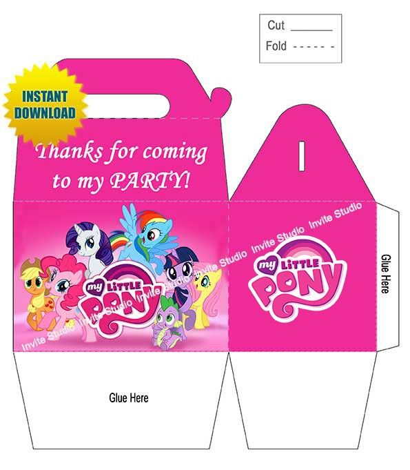 Shop for cheap 2014 Party Favors My Little Pony Party Favor Box