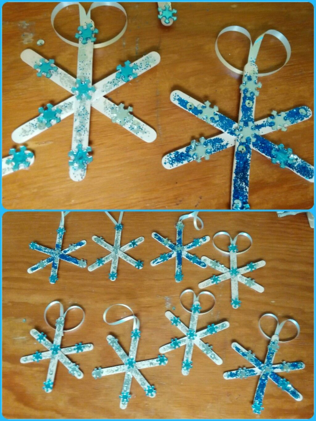 Snowflake ornaments crafts - Snowflake Ornaments Crafts Toddler Snowflake Ornaments Craft