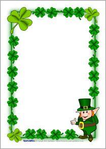 St Patricks Day Border Stock Illustration - Download Image ... |St Patricks Border