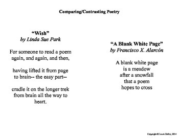 Compare and contrast with poetry venn diagrams teacher pay compare and contrast with poetry ccuart
