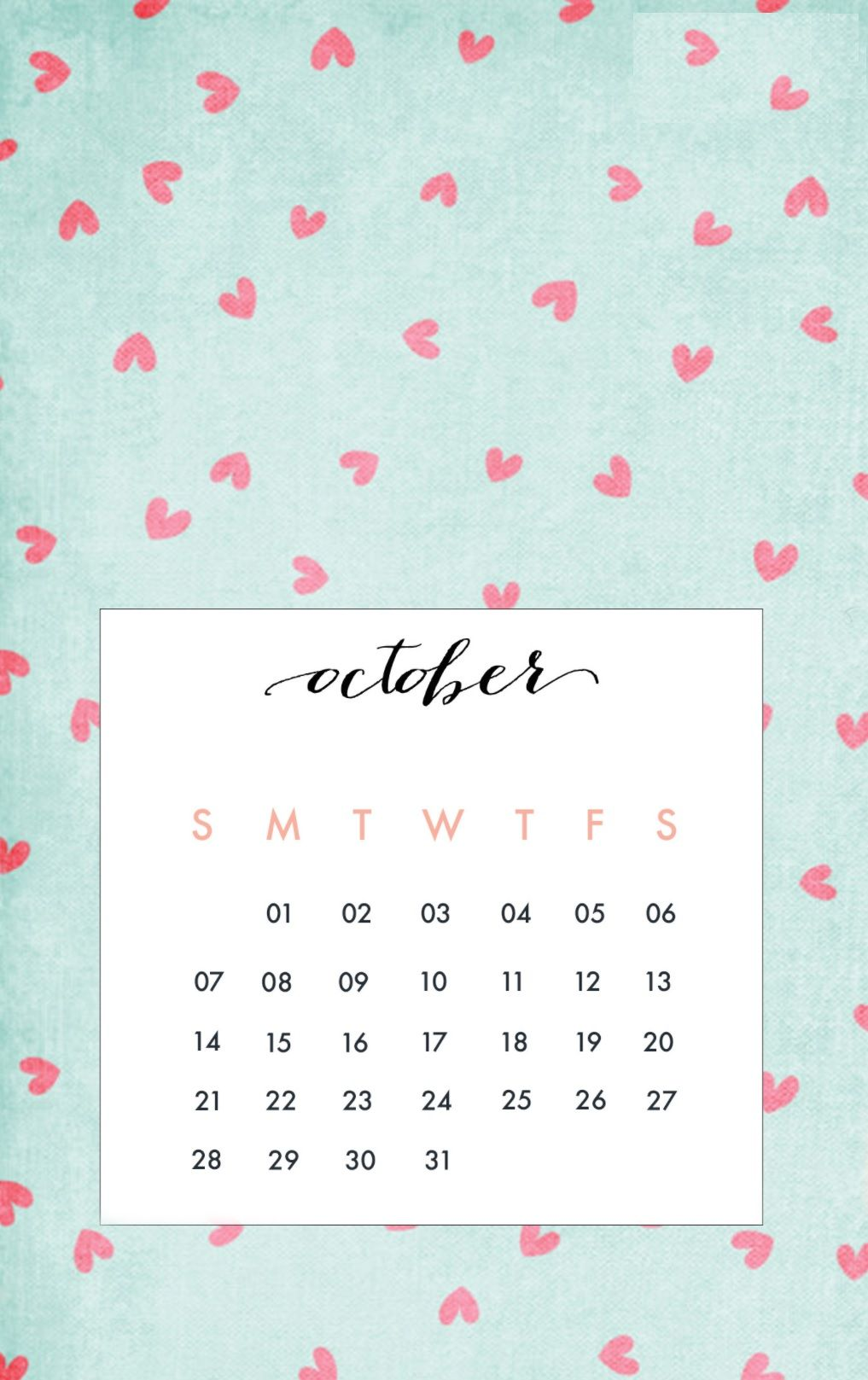 October 2018 iPhone Calendar Wallpapers | Calendar 2018 | Calendar wallpaper, Calendar wallpaper ...