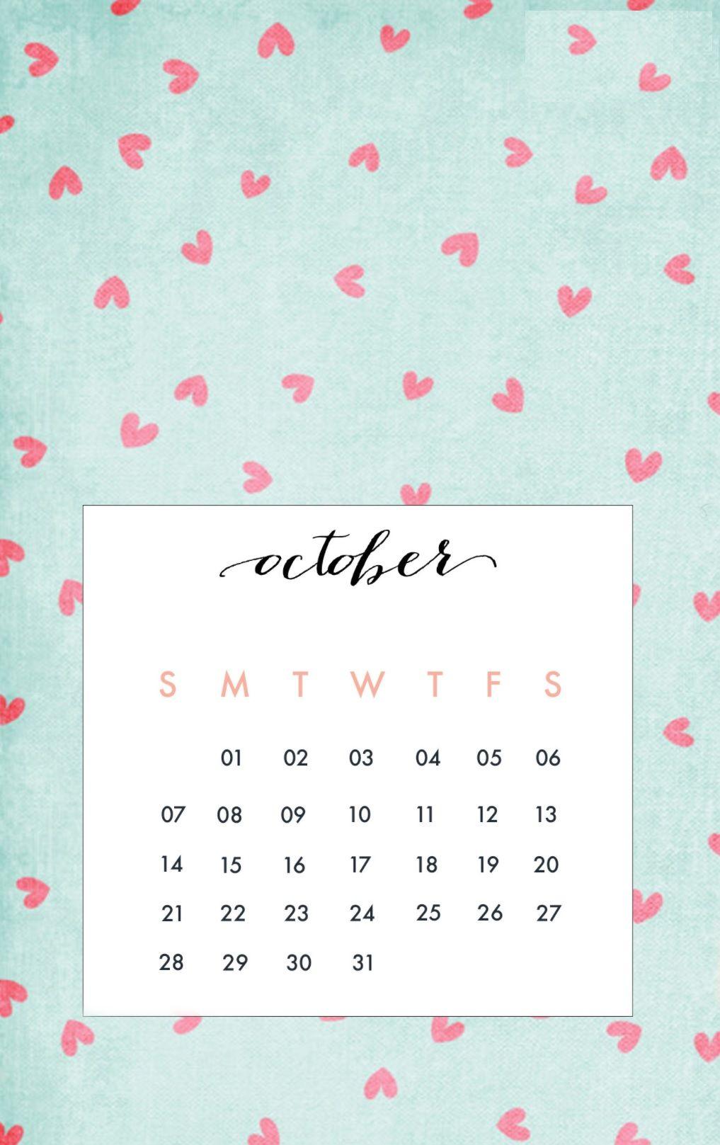 October 2018 iPhone Calendar Wallpapers | Calendar 2018 | Calendar wallpaper, Calendar wallpaper ...