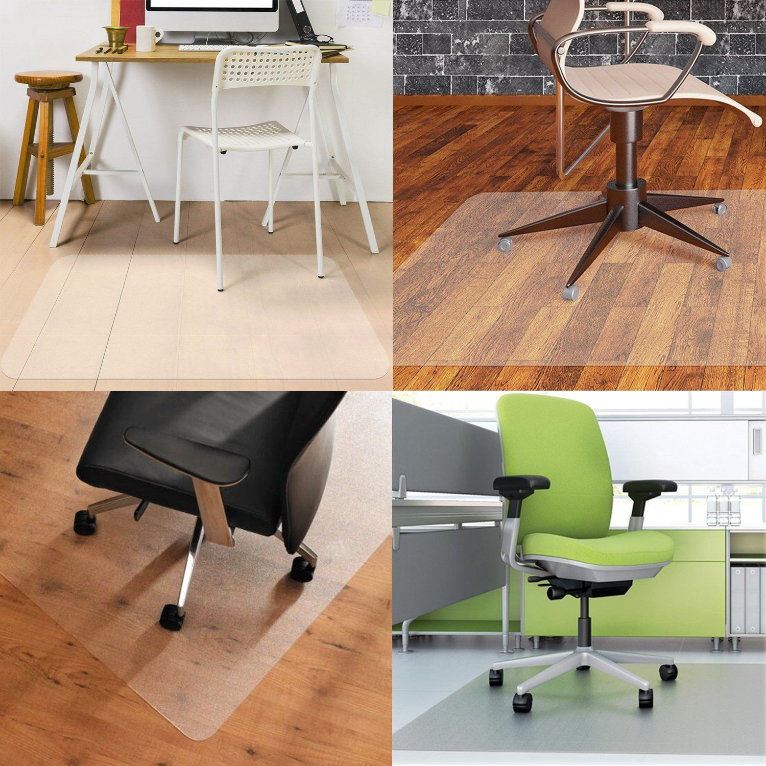 Office Chair Mat for hardwood floor by Somolux Computer