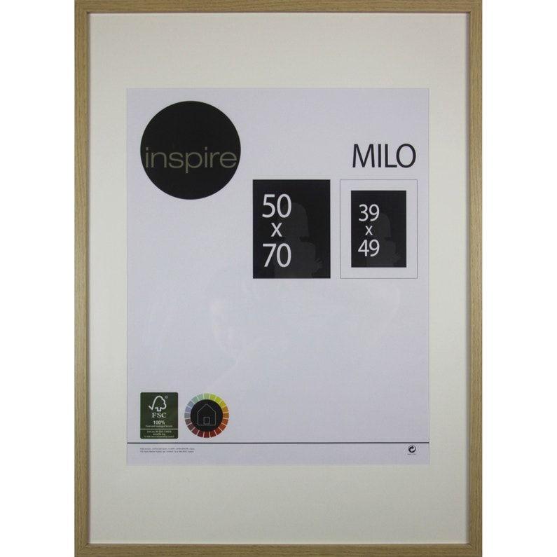 Cadre Milo 50 X 70 Cm Chene Clair Leroy Merlin