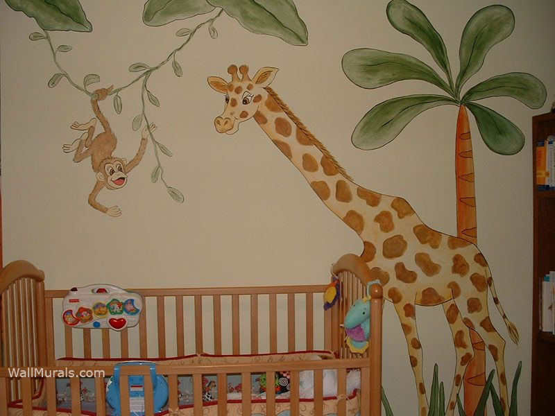 Jungle Wall Mural Playroom Pinterest Wall Murals Murals And - Jungle themed nursery wall decals