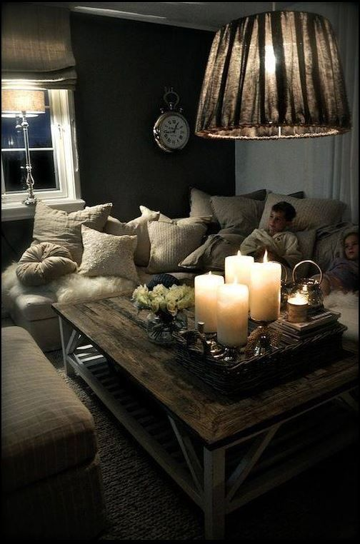 Night Time Comfort Love The Comfy Sofa And Lovely Lamplight