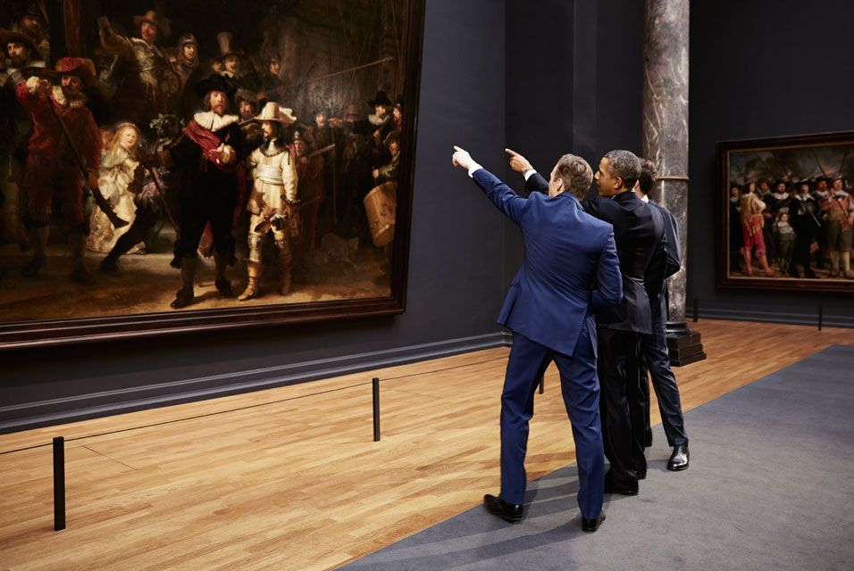 President Obama visits Rijksmuseum in first ever visit by a serving US President to the museum