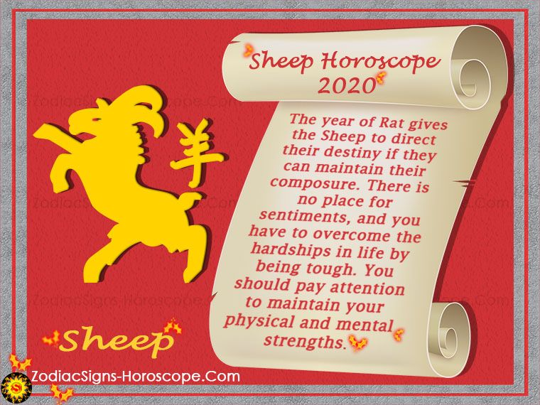 The Sheep Chinese Horoscope 2020 Will Be A Year Of Fluctuating Fortunes Which Are Governed By The Negative Influences Horoscope 2020 2020 Predictions Horoscope