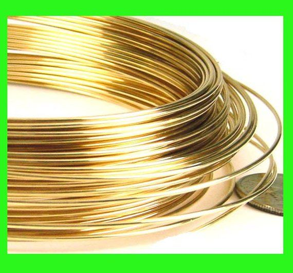 On Sale 10 Ft 26 Gauge 14k Yellow Gold Filled Wire Round Beading Crocheting Dead Soft Yellow Gold In In 2020 Wire Jewelry Jewelry Gold