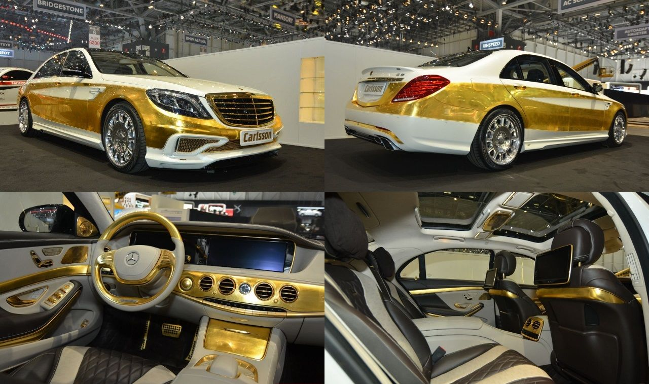 evening eyesore the carlsson cs50 versailles is a modified mercedesevening eyesore the carlsson cs50 versailles is a modified mercedes benz s class with real, hand laid gold leaf inside and out