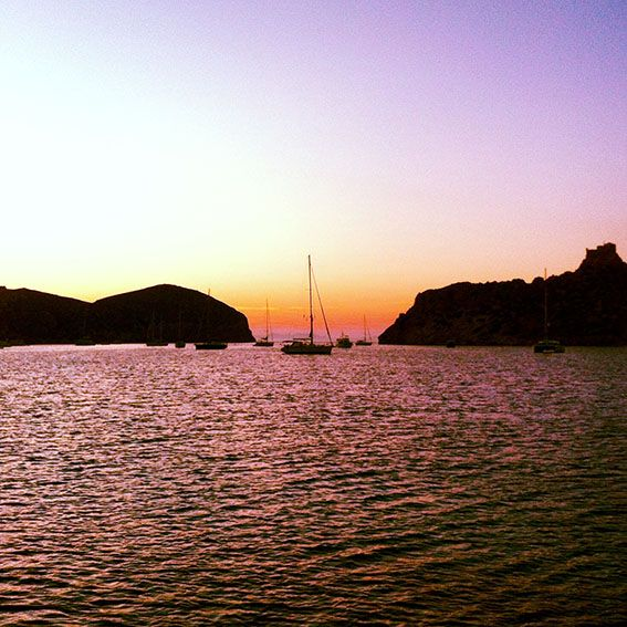 Sundowner on Cabrera, next to Mallorca. Just awesome...