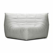 Admirable Zuo Modern Carnival Corner White Faux Leather At Caves Com Ibusinesslaw Wood Chair Design Ideas Ibusinesslaworg