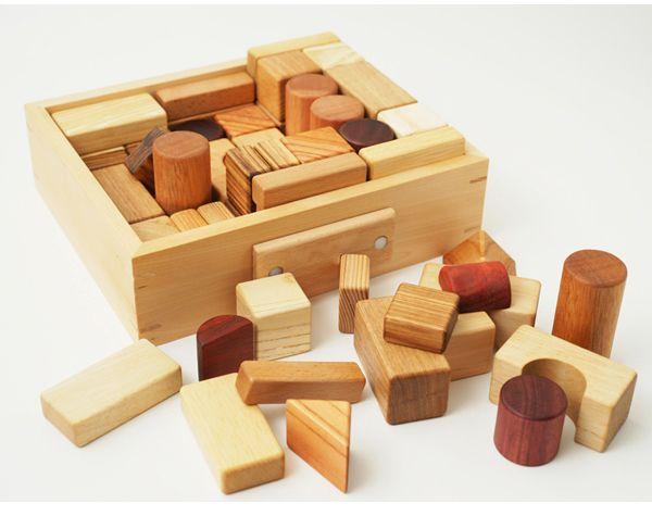 遊び方ガイドつき 積み木 知育玩具 つみきいっぱいセット66p 名前入り