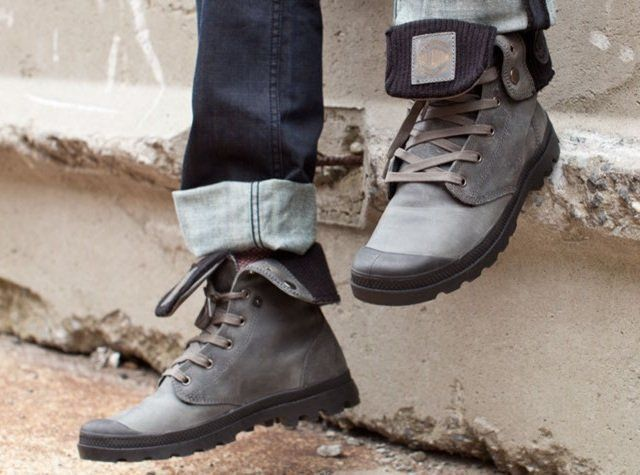 Baggy Leather Knit Boots By Palladium 175 Palladium Boots Palladium Boots Mens Fashion Boots