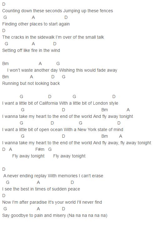 5 Seconds Of Summer Sounds Good Feels Good Fly Away Chords Lyrics